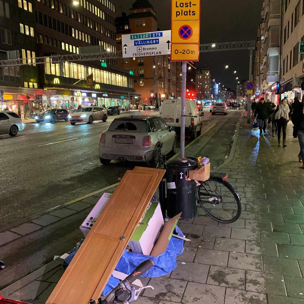 image of Skåpsdörrar och kartong - Stockholm City