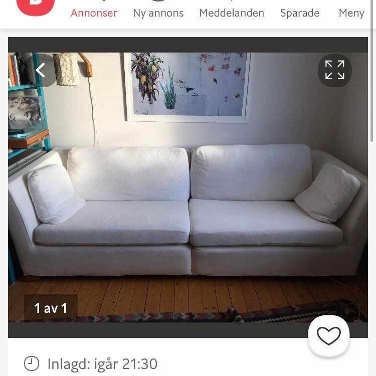 image of Soffa hämtas och lämnas -
