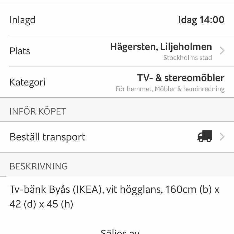image of TV-bänk, enkel! -