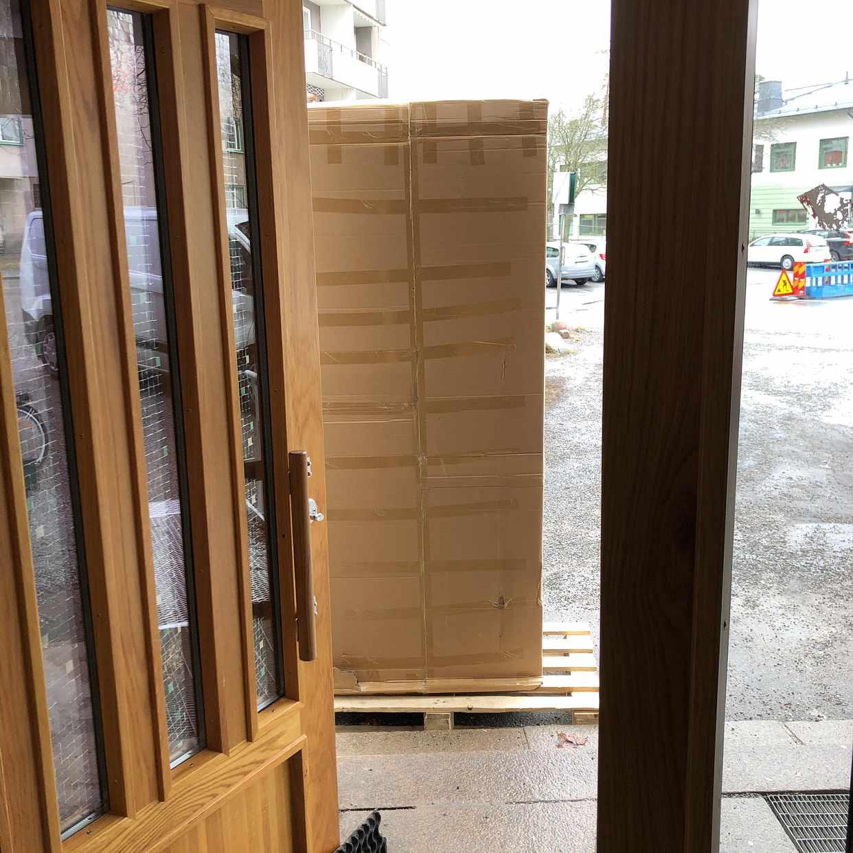 image of Leverans av möbler -