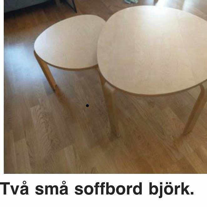 image of Två små soffbord hämtas -