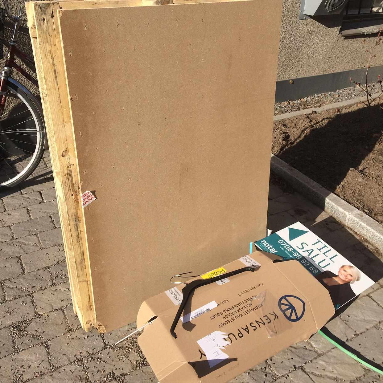 image of Lastpall skylt låda, - Årsta