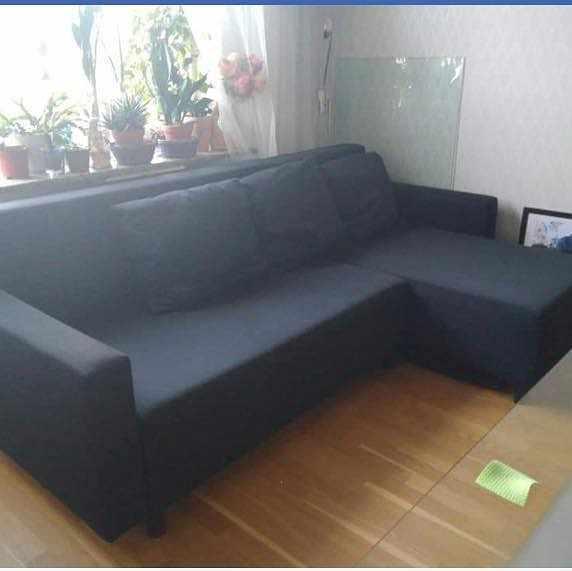 image of Bäddsoffa och 2st stolar -