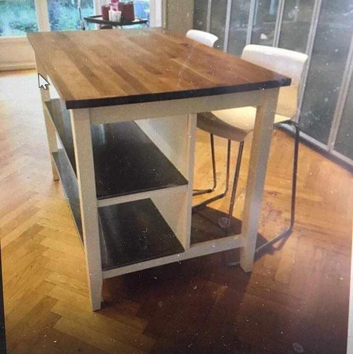image of Ikea kitchen island -