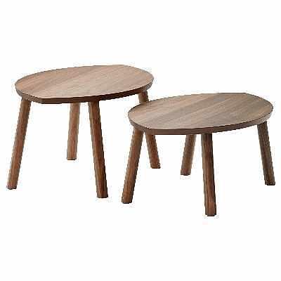 image of Två små sidobord.  -