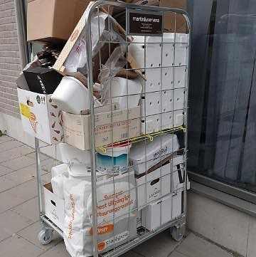 image of Kartonger, plast, frigoli - Sundbyberg