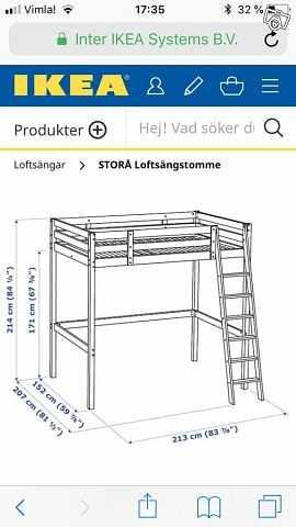 image of Storå loftsäng svart -