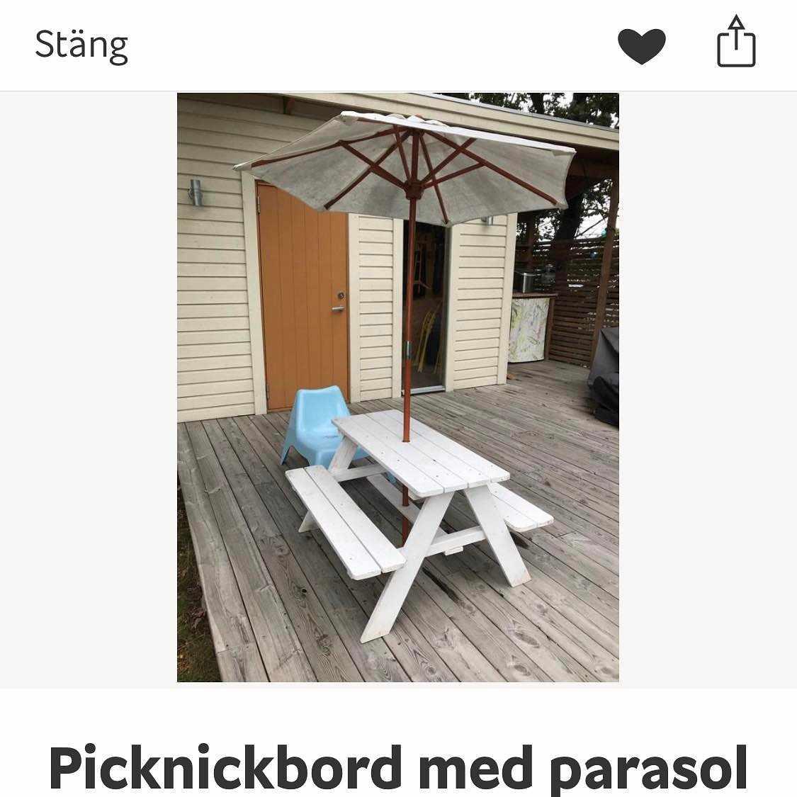 image of Barn picknickbord -
