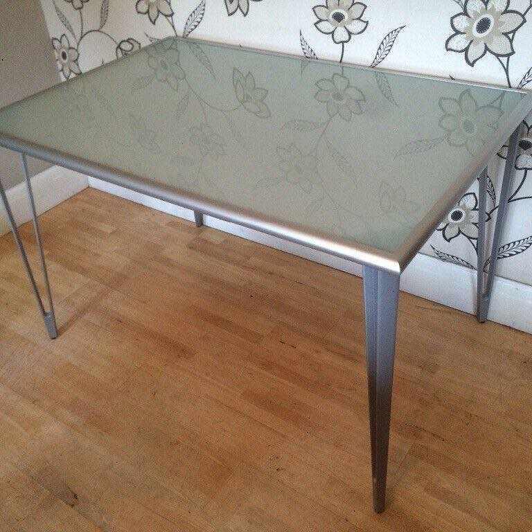 image of Glass Ikea desk - Stockholm