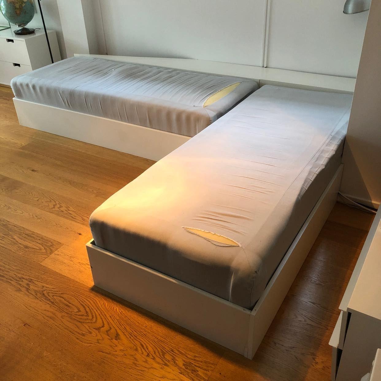 image of 2 sängbottnar & träram - Bromma