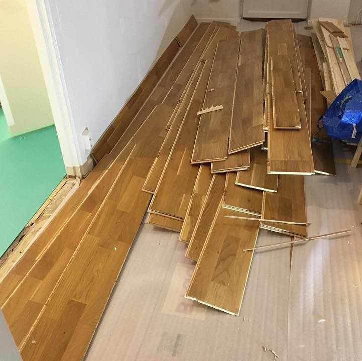 image of Bli av med utrivet golv - Enskede