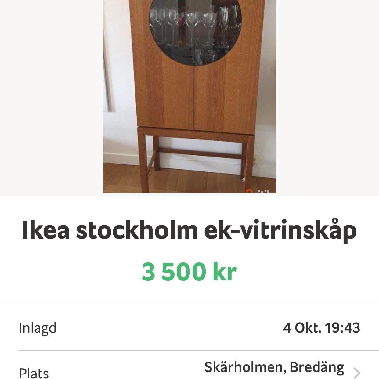 image of Vitrinskåp -