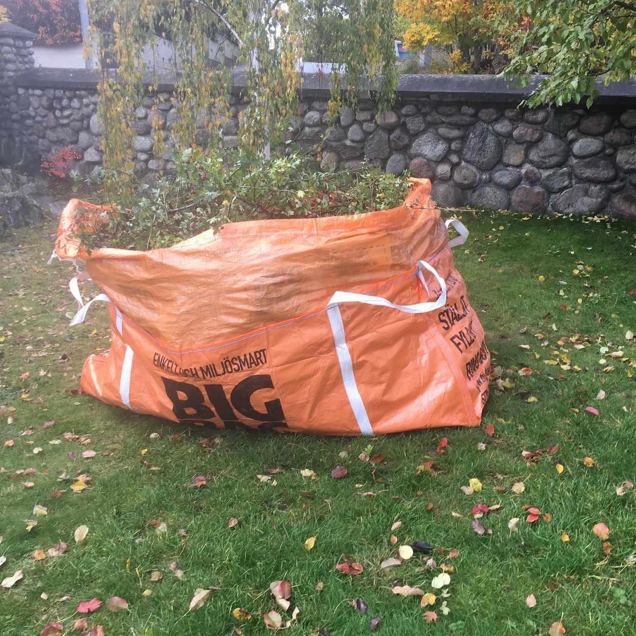 image of Grenar/ löv i en XL bag - Huddinge