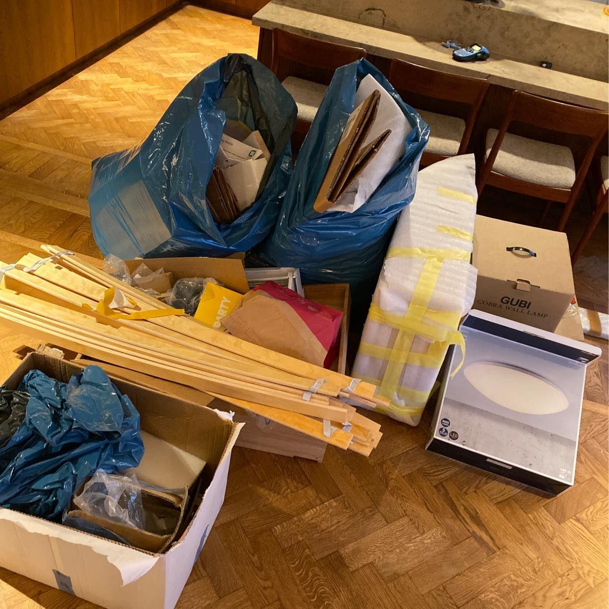 image of Avfall kartonger - Stockholm