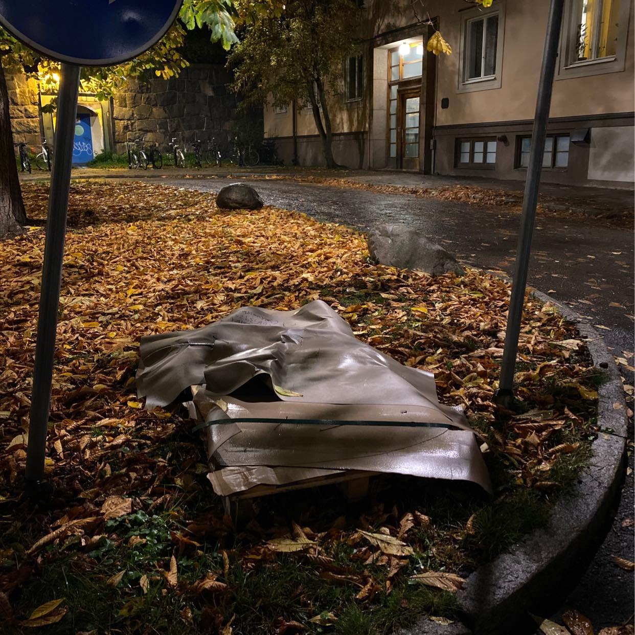 image of Lastpall och lite kartong - Stockholm City