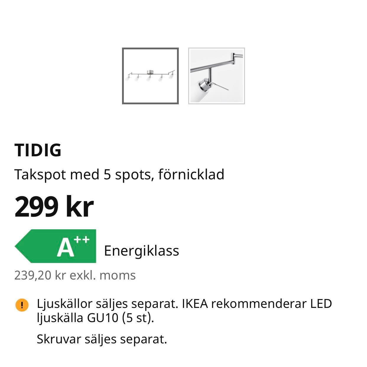image of Lampa med spotlights - Stockholm