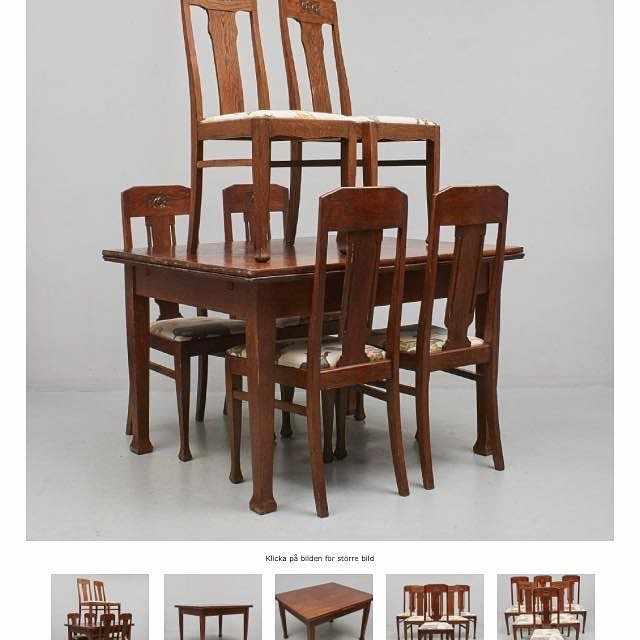 image of Bord och 6 stolar -