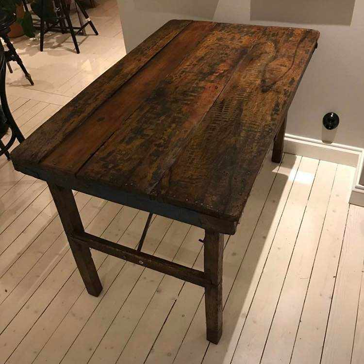 image of Wooden kitchen table -