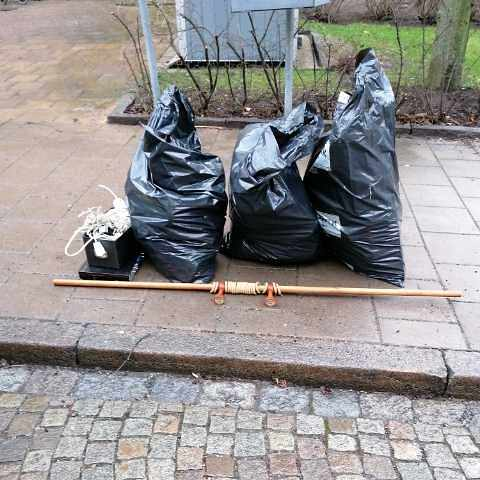 image of Garbage to recycling - Stockholm