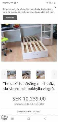 image of Jätte fin loftsäng med sk -