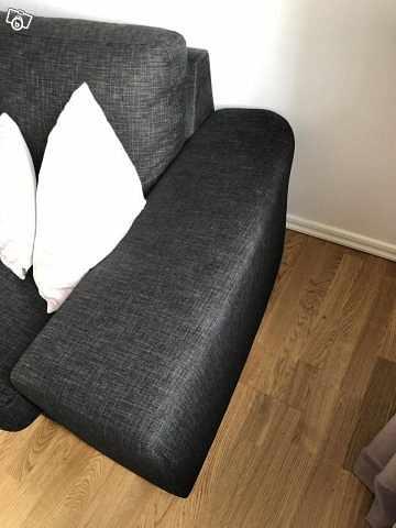 image of Stor soffa med schäslong -