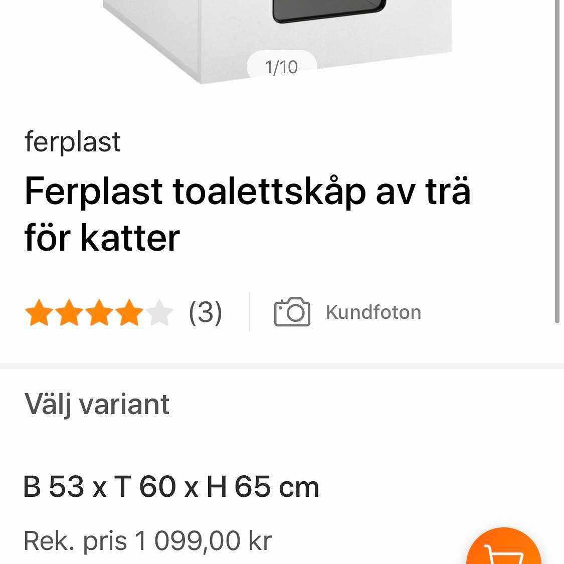 image of Toalettskåp för katter - Nykvarn
