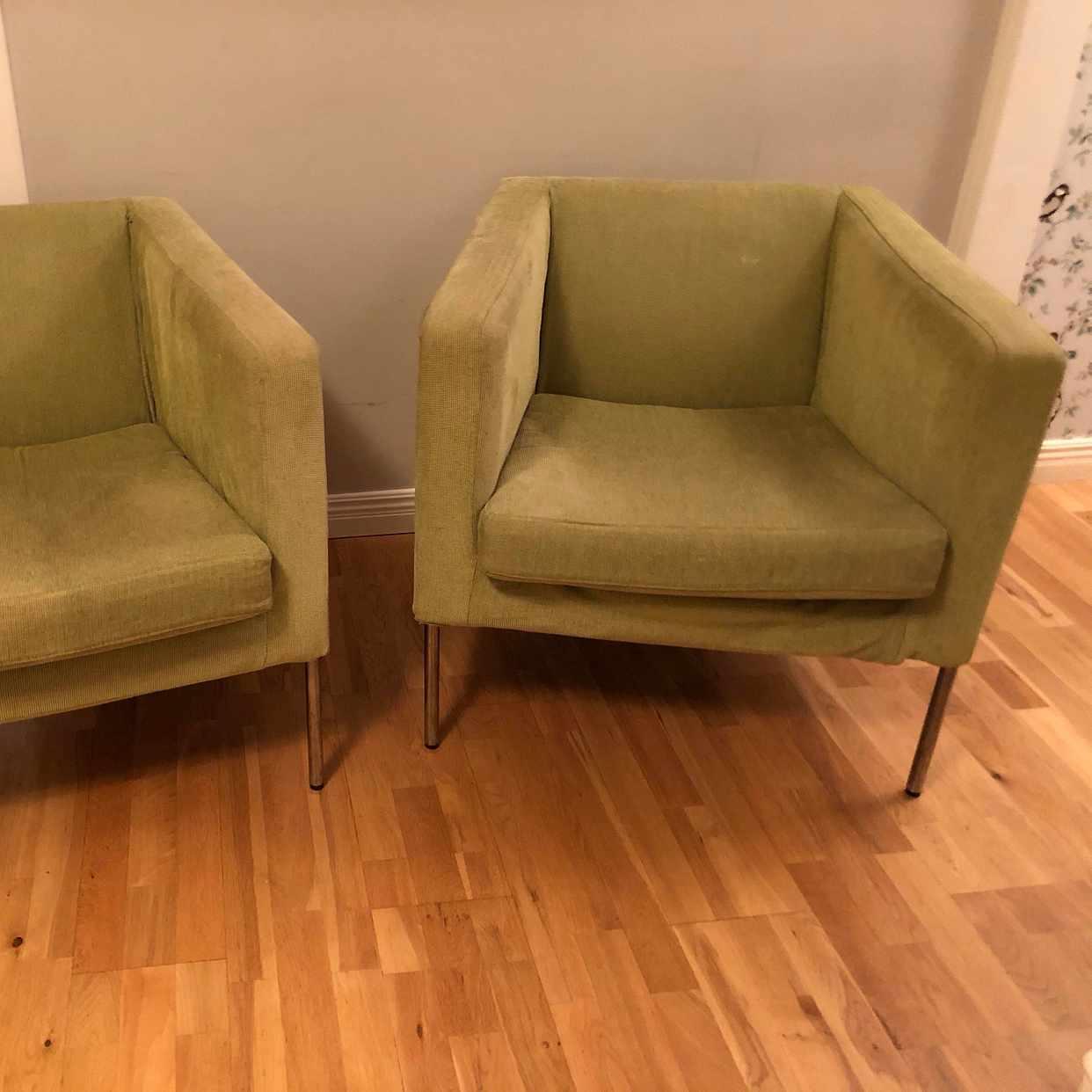 image of Två gröna fåtöljer - Spånga
