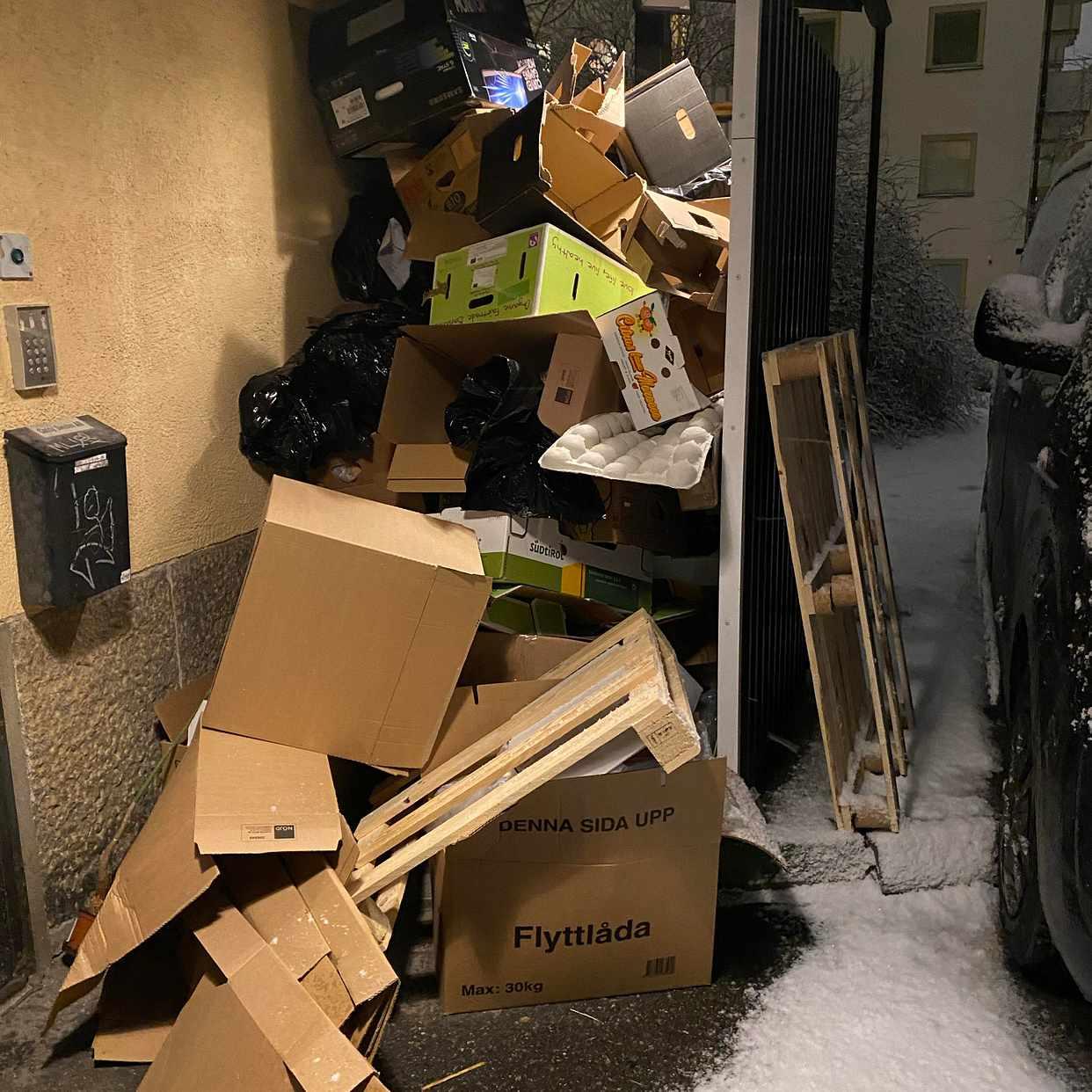 image of Wellpapp, plast o pallar - Stockholms Stad