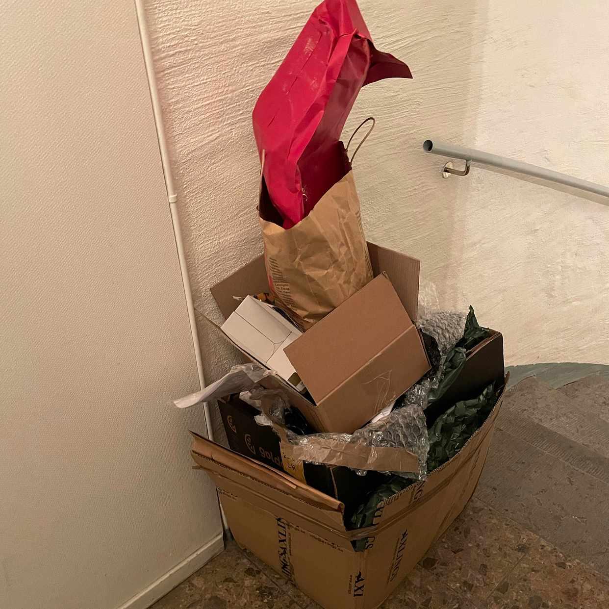 image of Kartonger, recycling - Stockholm