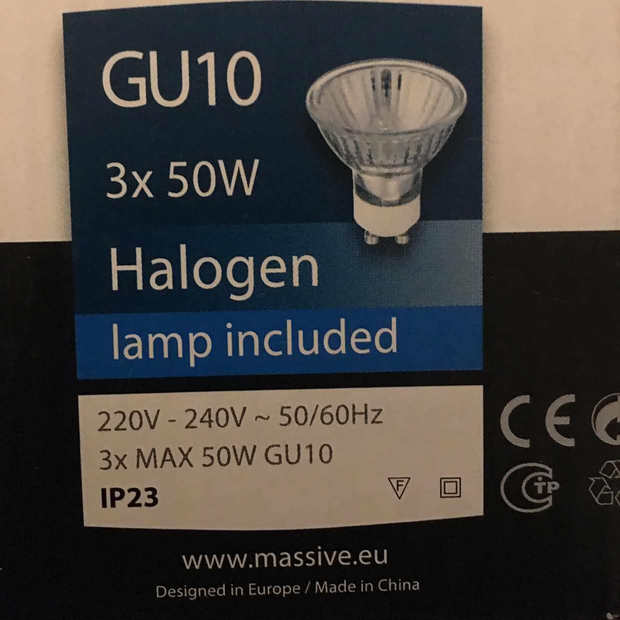 image of 2 halogenlampor Philips - Bromma