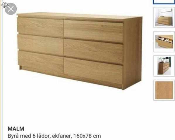 image of  IKEA MALM+sängbord -