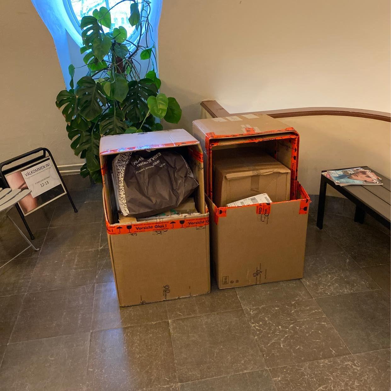 image of Kartong, emballage - Stockholms Stad