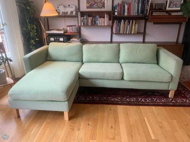 image of Soffa med divan, IKEA Kar -
