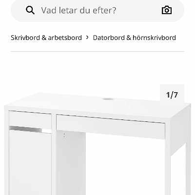 image of Ikea skrivbord Micke -