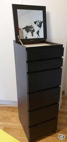 image of Malm Ikea svartbrun byrå  -
