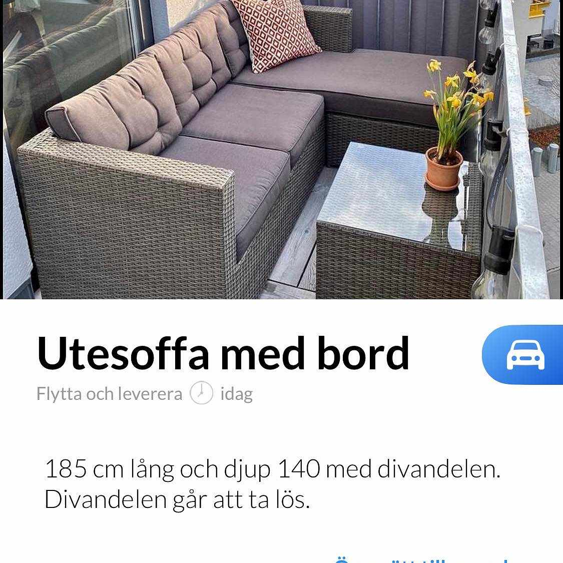 image of Hämta en utemöbel -
