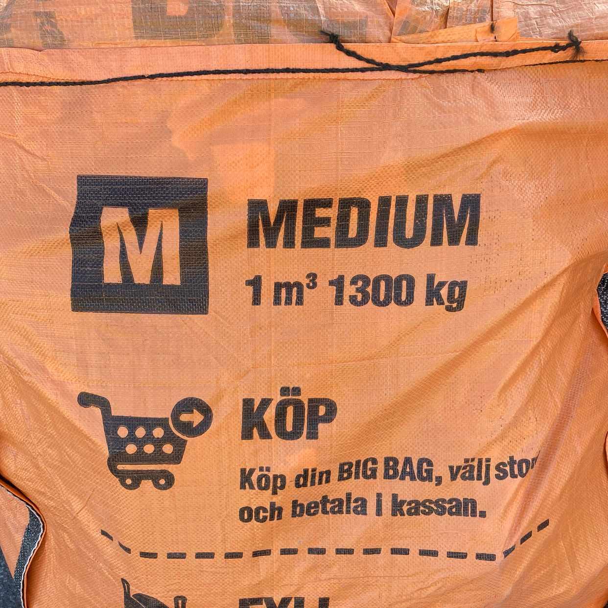 image of 4 st BIGBAG m. tegel/puts - Hägersten