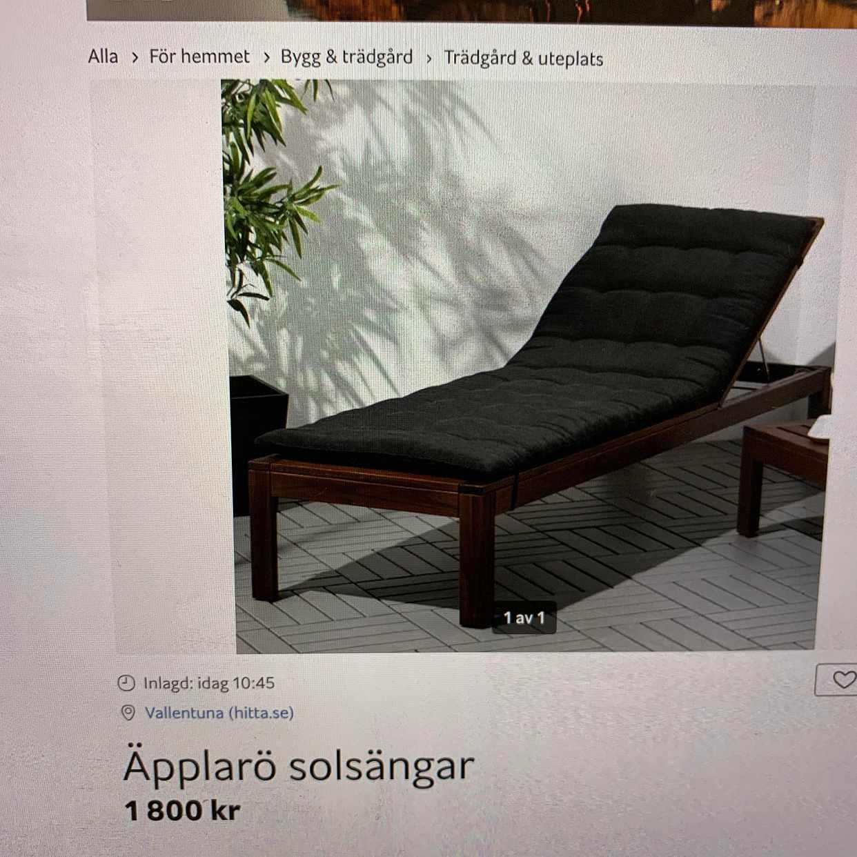 image of Hämta soffa för utomhus. -