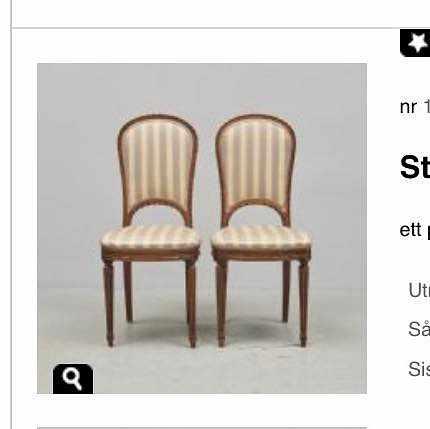 image of Två stolar + liten byrå -
