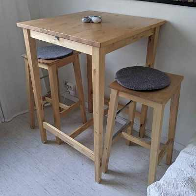 image of Tall table & 2 stools -