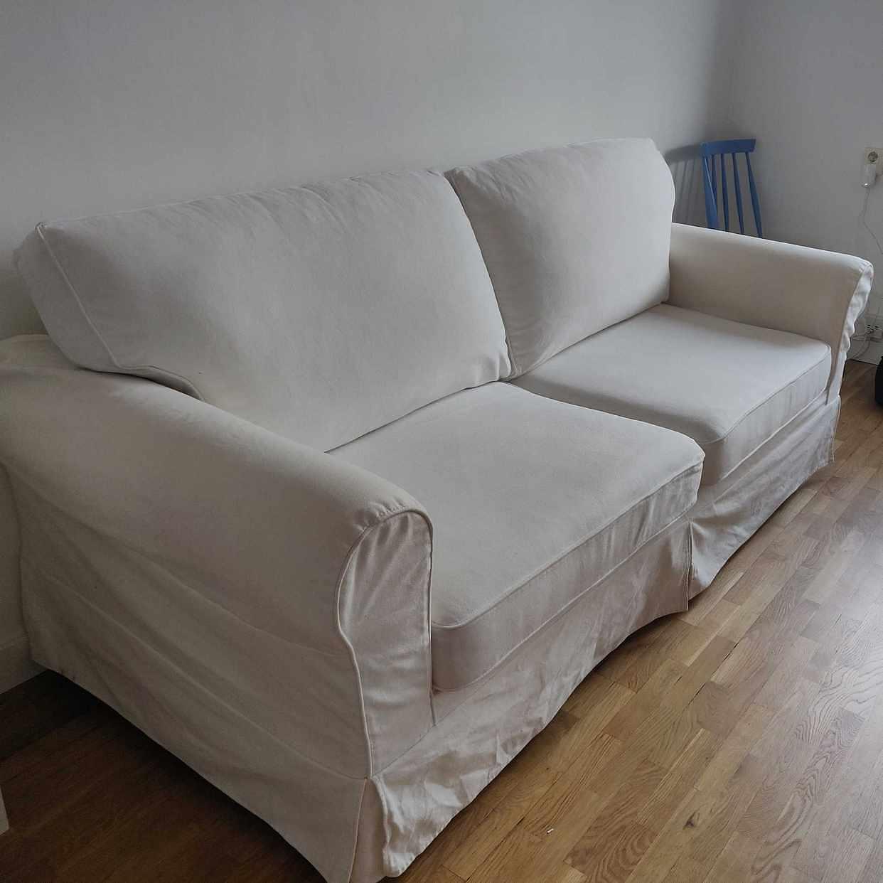 image of Vit 3-sitssoffa -