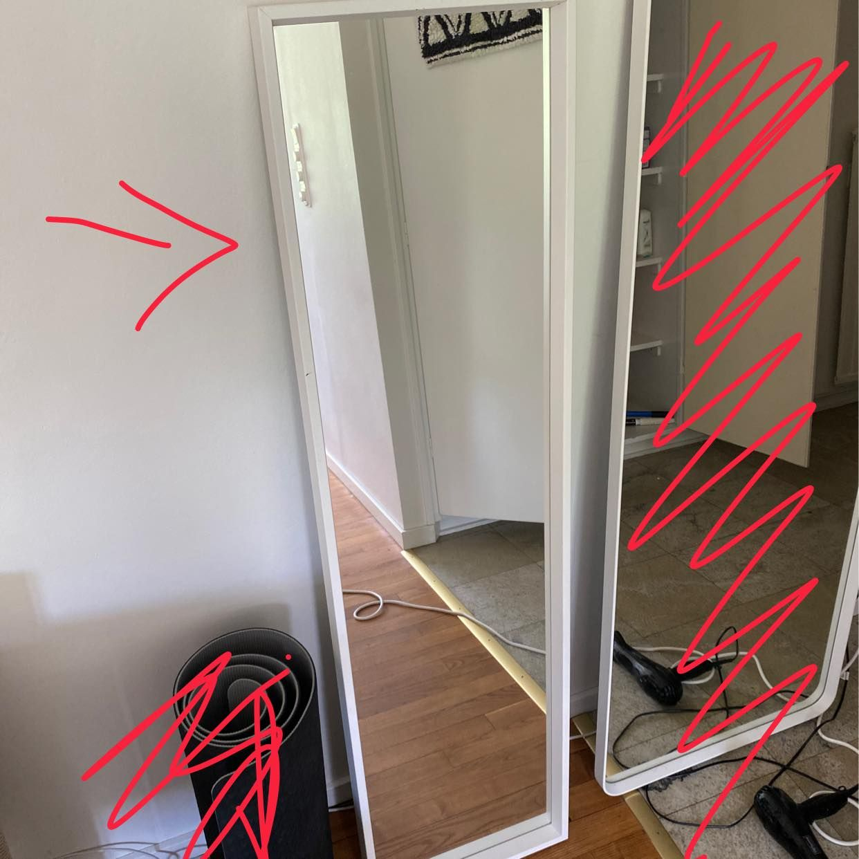image of IKEA Bed mirror - Solna