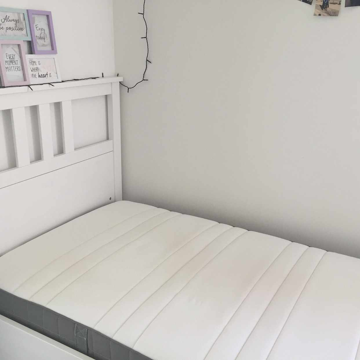 image of Bed and mattress 90x200cm - Enskede