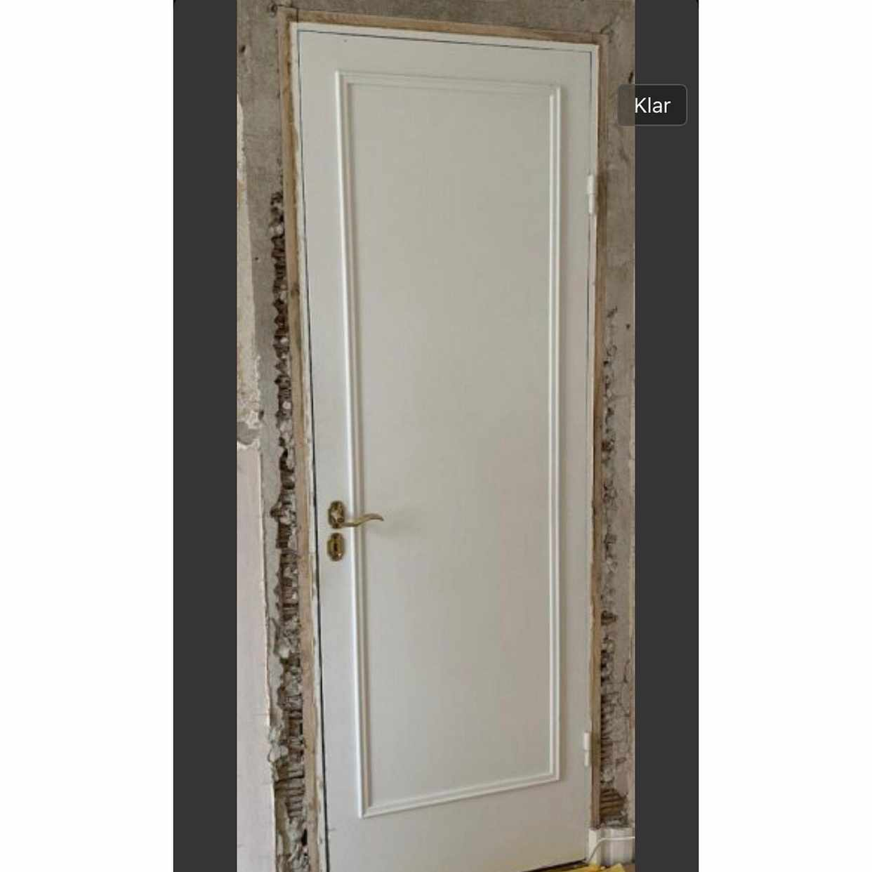 image of 2 st dörrar, karm, lister -