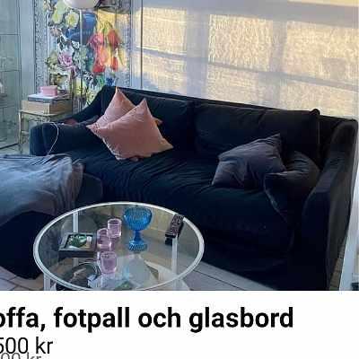 image of Soffa och pall -