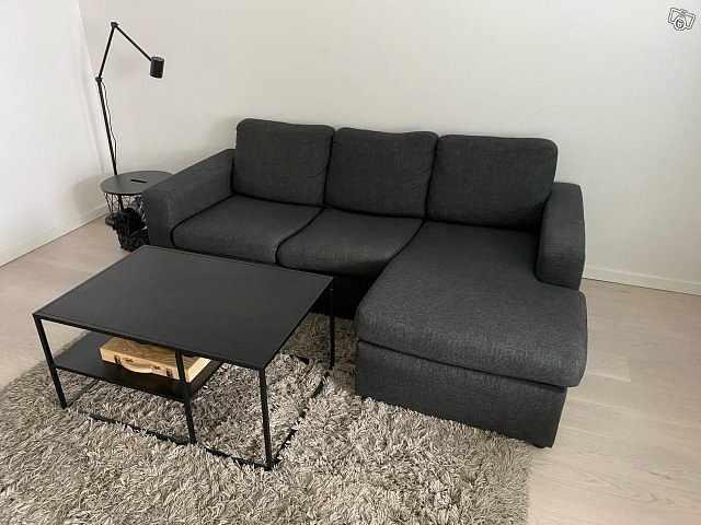 image of 3-Sits soffa med schäslon -
