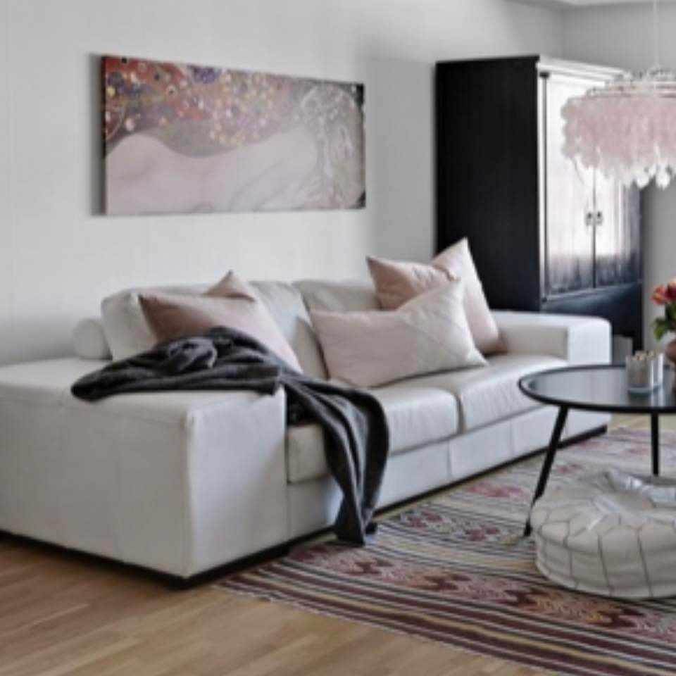 image of soffa äkta skinn - Ekerö