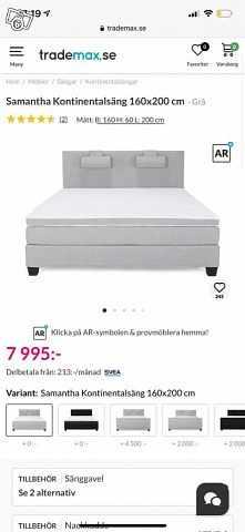 image of 160 Säng ifrån trademax -
