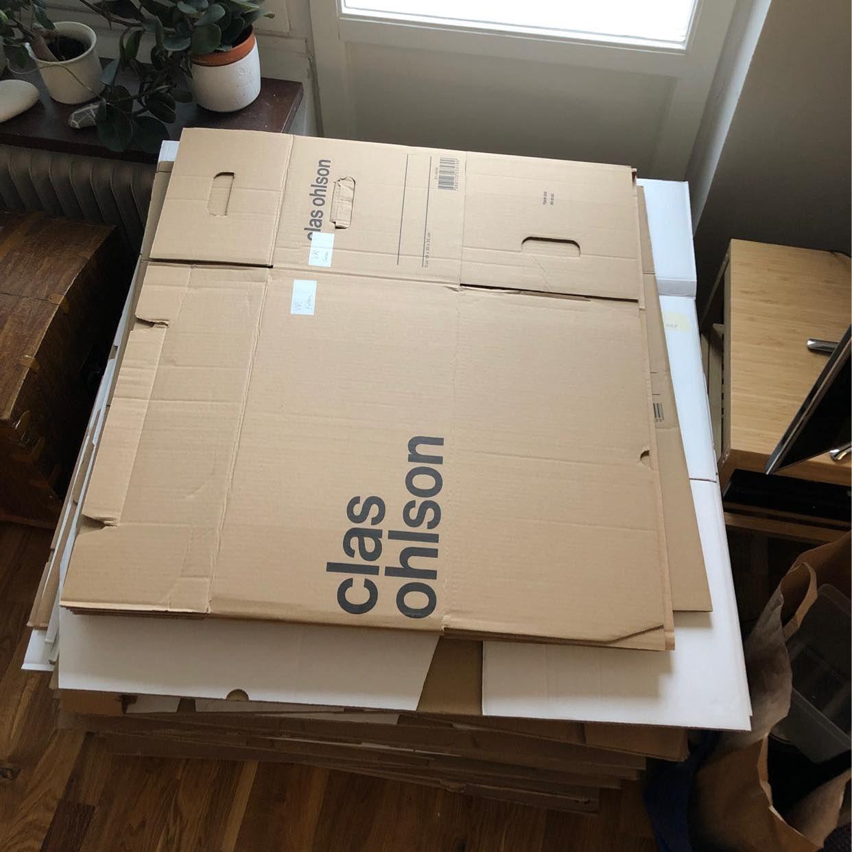 image of Returning 53 empty boxes -