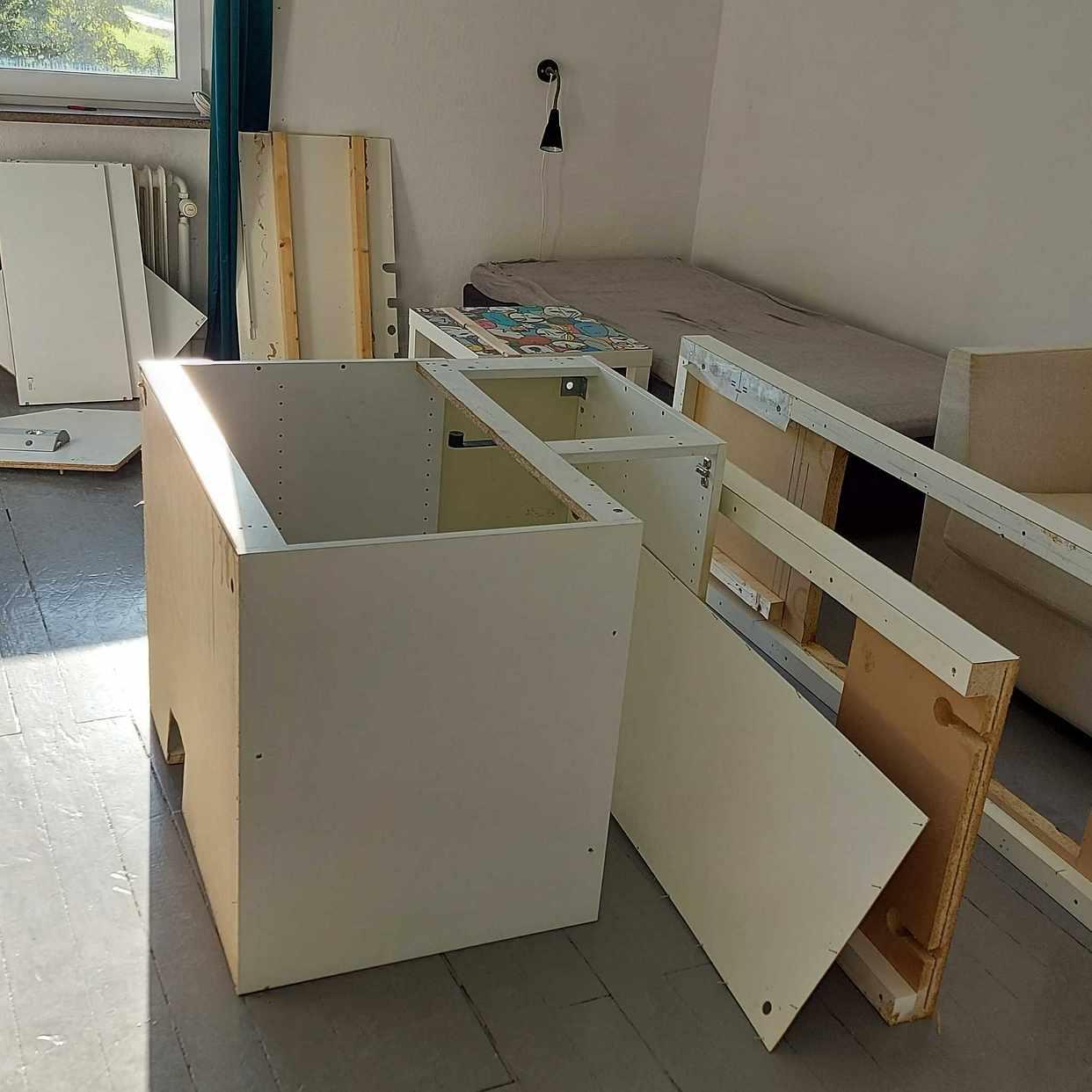 image of Ikea hörnskåp, bänkskiva - Klippan